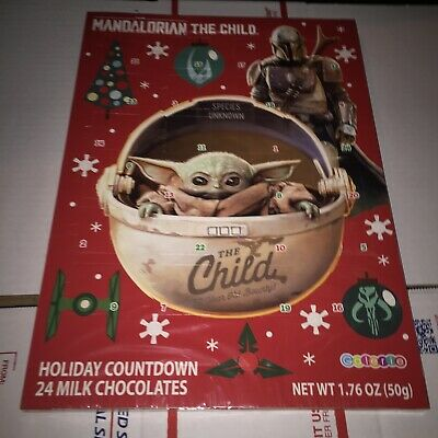 Mandalorian Star Wars Advent Christmas Calendar Milk Chocolates The Child New