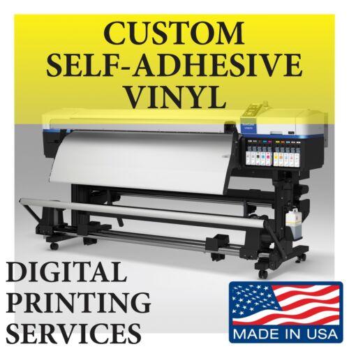 Custom Printed Window Sign Vinyl Decals Stickers Self-adhesive Free Lamination