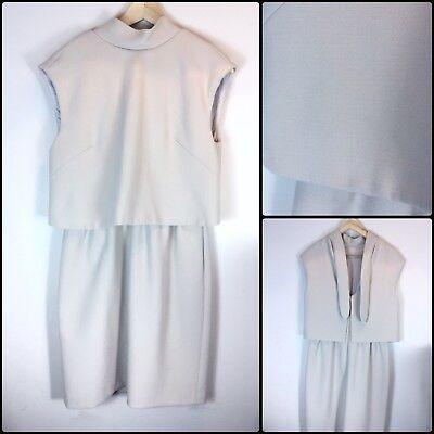 HOSS Intropia Anthropologie Jonie Beige Tiered Dress Open Back Bow Size 38 UK 10