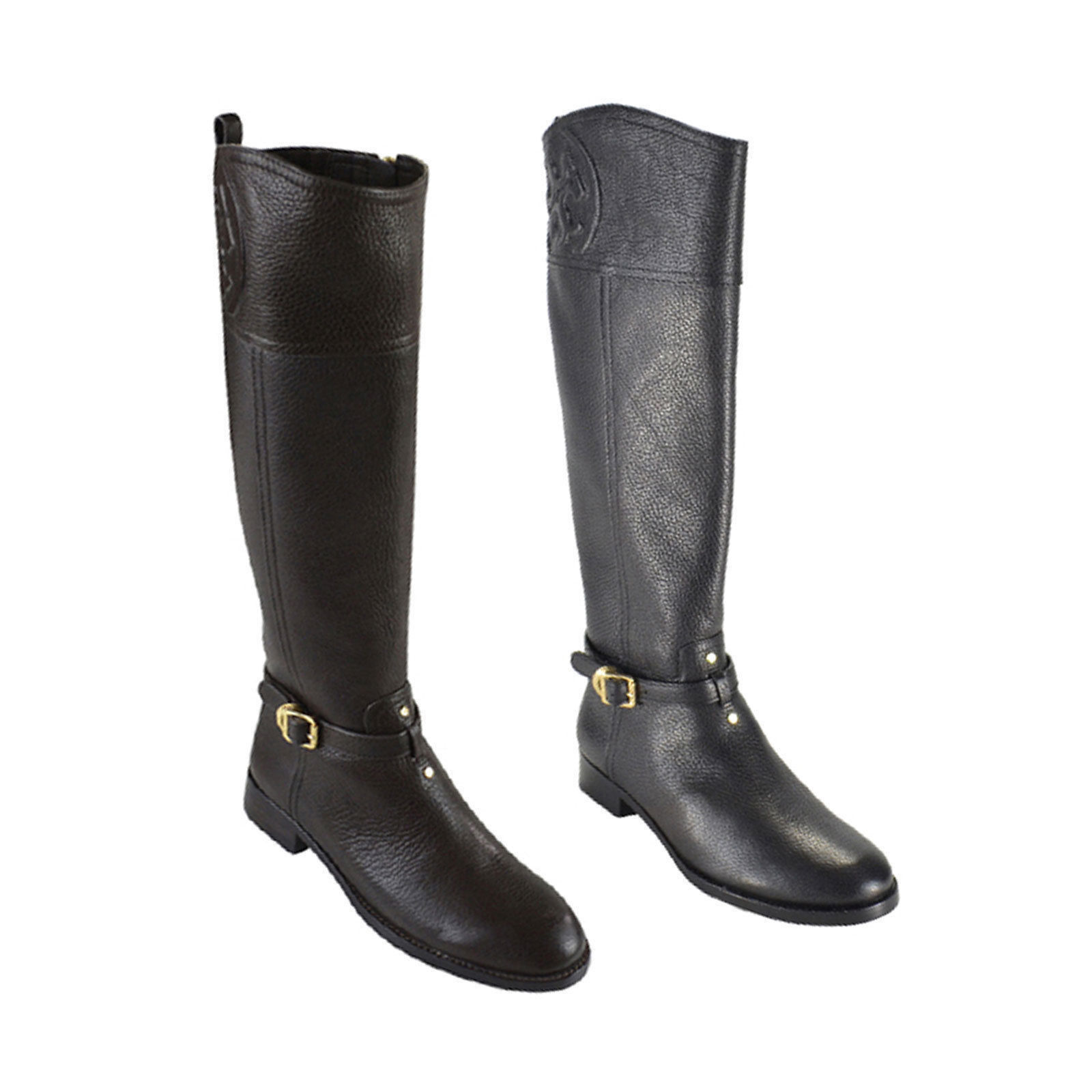 96abdc77fd60 These Tory Burch Marlene riding boots are made of tumbled leather. A  classic way to keep you warm yet stylish.