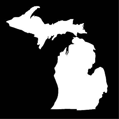 State of Michigan Die Cut Window Sticker Decal (Upper and Lower Peninsula)