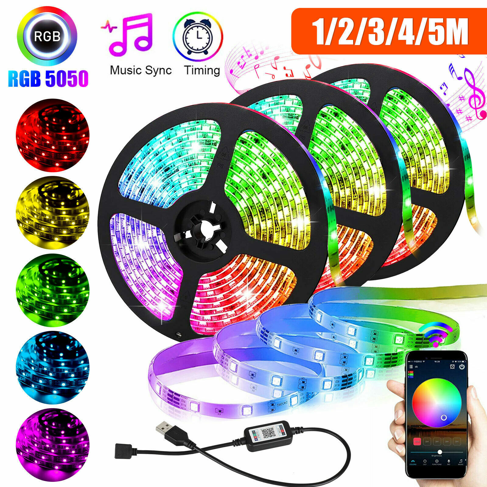 32FT Flexible Strip Light RGB 600 LED SMD Remote Fairy Lights Room TV Party Bar~ Home & Garden