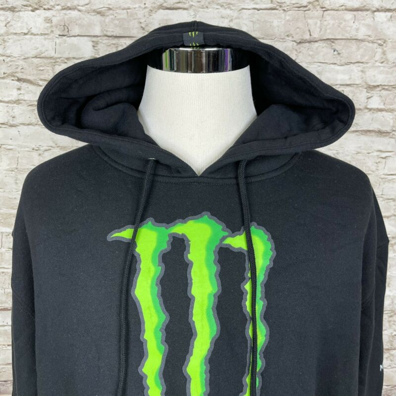 Vintage MONSTER ENERGY DRINK Unleash The Beast Promo Hoodie Sweatshirt Men's XL