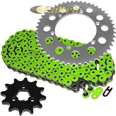 Green O-Ring Drive Chain & Sprockets Kit Fits KAWASAKI KX125 1994 1995 2000-2002