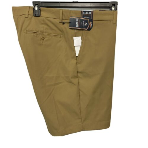 Cremieux Mens Performance Atwood Khaki Shorts 42 Flat Front Golf Stretch Chino Clothing, Shoes & Accessories