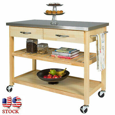 Kitchen Cart Steel Top (Removeable Cart Kitchen Islands On Wheels Stainless Steel Table Top Restaurant  )