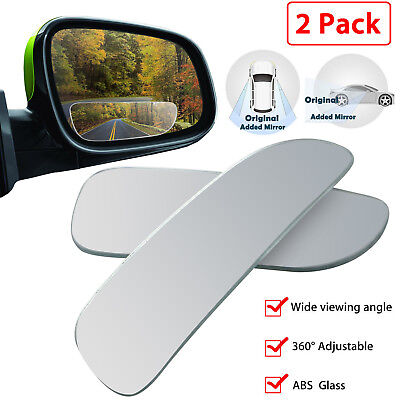 Rear Side Glass - 2pcs Universal Car Auto 360° Wide Angle Convex Rear Side View Blind Spot Mirror