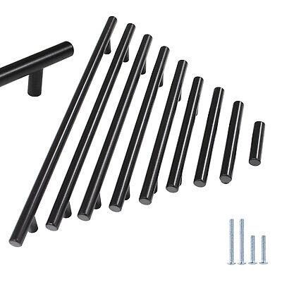 Schwarze Küche Türgriffe (Schwarz T Stangengriff Edelstahl Küchenschrank Türgriffe Möbelgriffe Griffe )