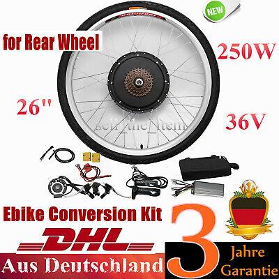 250W 36V Rueda Trasera Bicicleta Eléctrica E-Bike Conversion kit 26