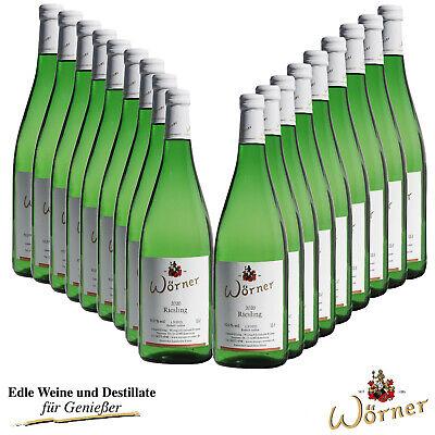 (4,28€/l) Riesling lieblich 18x1L WEINGUT WÖRNER - Weißwein Wein aus der Pfalz