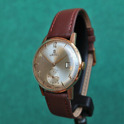 LANCO gold plated vintage watch 1336 reloj montre orologio Swiss