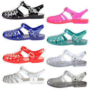 LADIES-WOMENS-GIRLS-FLAT-SUMMER-BEACH-RETRO-JELLY-SANDALS-FLIP-FLOPS-SHOES-SIZE