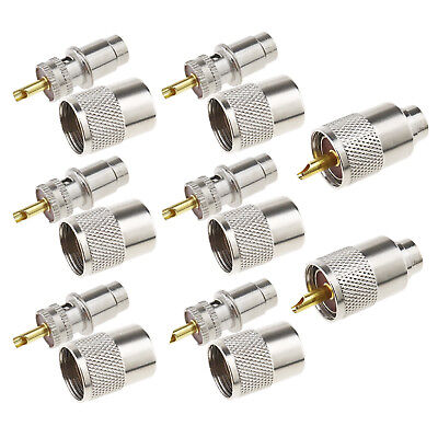 10-pack PL259 Solder Connector Plug with Reducer for RG8X Coaxial Coax Cable. Buy it now for 13.04