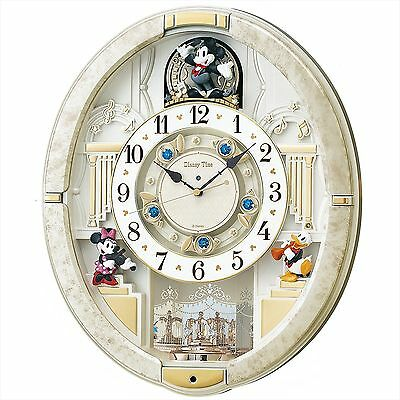 SEIKO CLOCK wall clock Mickey Mouse radio analog trick 12 songs melody FW580W