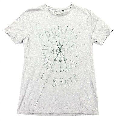COMMUNE DE PARIS Men's Courage/Liberte S/S T-Shirt Heathered Gray • MEDIUM