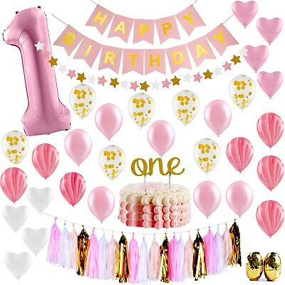 Baby Princess Party Supplies (Baby 1st Birthday Girl Decorations Princess - First Birthday Party Supplies)