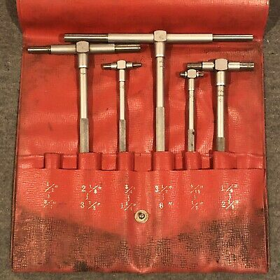 Mitutoyo Telescoping Gage Set 5 Gages Missing One Used Free Ship 155-903