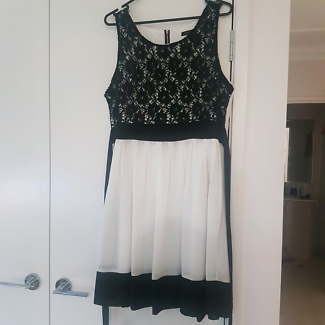 Black & white semi formal dress