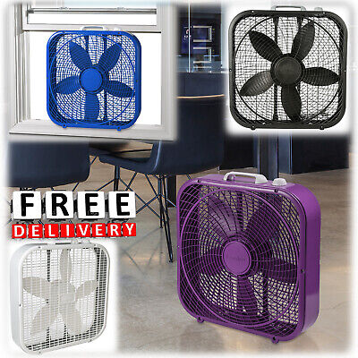 Indoor Electric Portable Fan 3 Speed Box Tower Lasko Floor 20