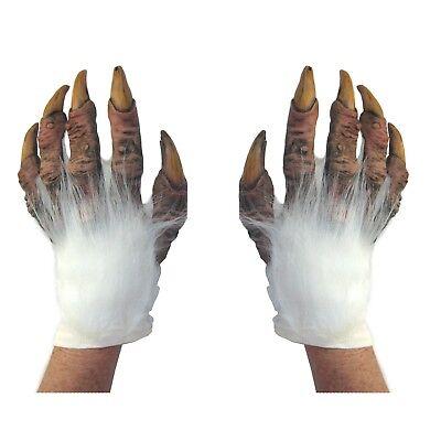 Weiß Werwolf Yeti Abdonimal Biest Hände Unheimlich Erwachsene Halloween - Yeti Kostüm Halloween