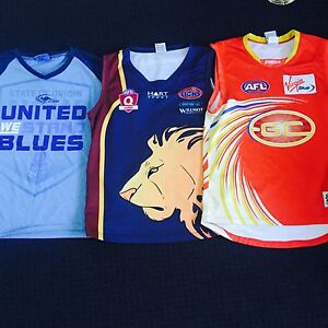 Men's set of three football jerseys size M Coomera Gold Coast North Preview