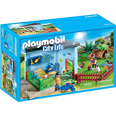 Playmobil City Life Small Animal Boarding Building Set 9277 NEW Learning