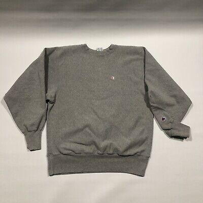 Vintage 90s Champion Heather Grey Reverse Weave Crewneck Sweatshirt Mens XLVtg