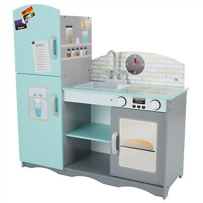 Toy Kitchen Cupboard Stove Oven Fridge Sink Pretend Play Toddlers Girls Boys