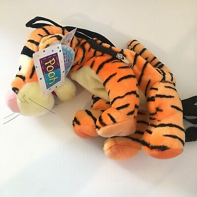 Vintage Pyramid Winnie The Pooh Tigger Plush Backpack Retired Disney NEW 16""