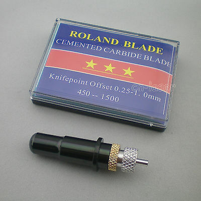 1pc Hq Roland Blade Holder 15 Pcs 60 Blade Vinyl Cutter Cutting Plotter Black