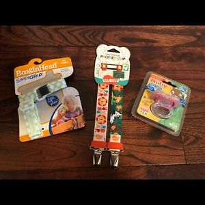 Pacifier clip, sippy grip, teether Brand New!