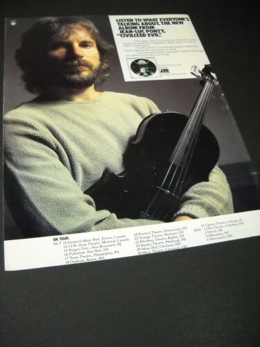 JEAN-LUC PONTY Oct 10 - Nov 6, 1980 TOUR Dates/Venues/Cities PROMO POSTER AD