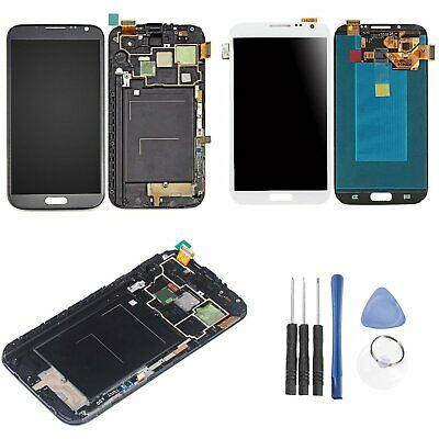 LCD Screen Touch Digitizer Replacement + Frame For Samsung Galaxy Note 2