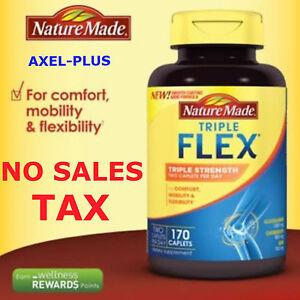 Nature Made TripleFlex Triple Strength, 170 Caplets Glucosamine Chondroitin MSM