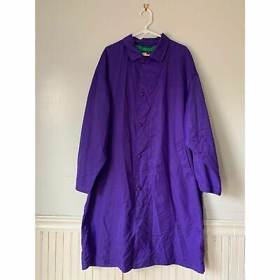 Vintage Tommy Hilfiger Men's Size L Purple Windbreaker Long Trench Jacket Coat