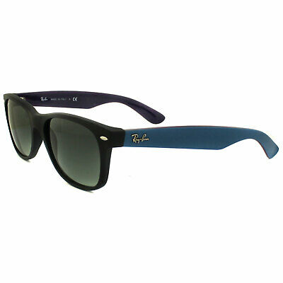 Ray-Ban Sunglasses New Wayfarer 2132 618371 Matt Black & Blue Grey Gradient M