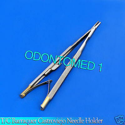 Tc Castroviejo Barraquer Needle Holder 16 Cm Surgical Dental Instruments