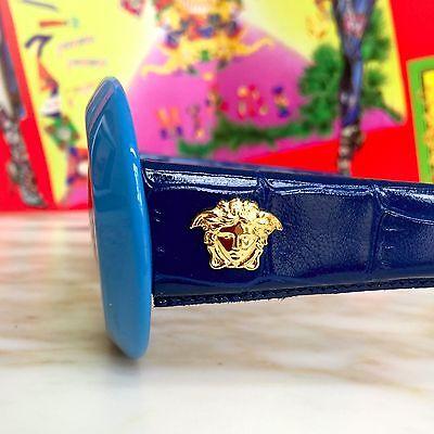 ef00e0e379 GIANNI VERSACE blue croc Mod 418 P Col 938 sunglasses as seen on Rihanna