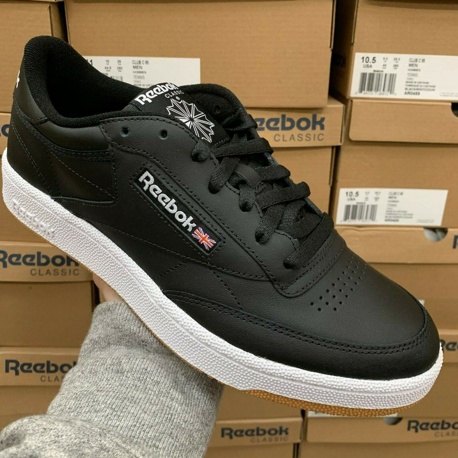 Premisa Aliviar Humedal  Reebok Womens Club C 85 FVS White/gum Fashion Sneaker Size 8 for sale  online   eBay