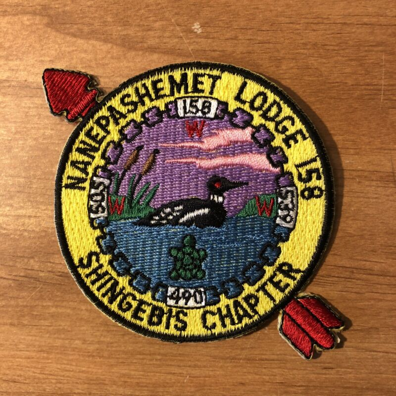 OA Nanepashemet Lodge 158 Shingebis Chapter Patch BSA - Mint