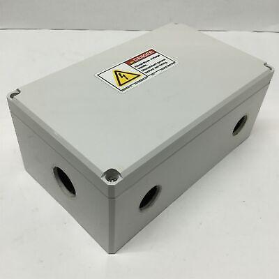 Hoffman Q20129pcd Plastic Pushbutton Enclosure Box 200 X 120 X 85mm Holes