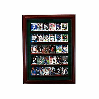 30 Trading Baseball Card Cabinet Style Display Case Glass Suede MLB UV Made USA Baseball Cabinet Style Display Case