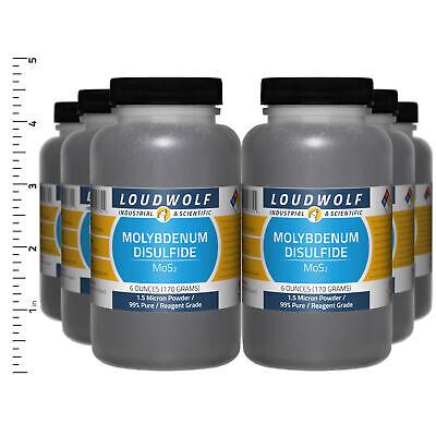 Molybdenum Disulfide 2.3 Lb Total 6 Bottles Reagent Grade 1.5 Micron Powder