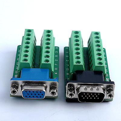 D-SUB DB15 Adapter VGA 3Row 15Pin Um Terminal-Breakout Board Connector (Db15-adapter)