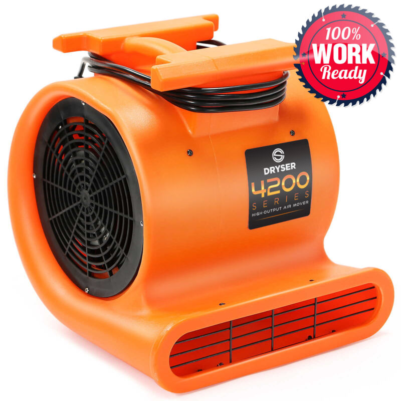 6 Air Mover Carpet Dryers 3 Speed 1 HP Stackable Floor Blower Drying Fan