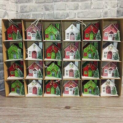 Martha Stewart Creative Living Co-Op Putz Houses Advent Calendar 24 Ornaments