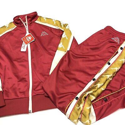 Kappa Tracksuit Jacket Pants Womens Small Pink Gold NEW Tags