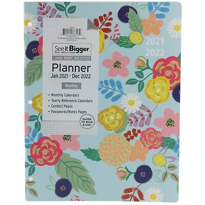 Planahead 2021 2022 Large Two Year Monthly Planner Agenda See It Bigger Choose