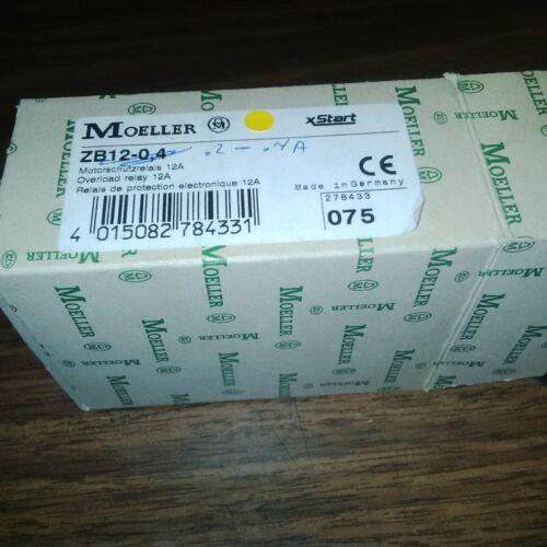Klockner Moeller ELECTRIC OVERLOAD RELAY ZB12-.04.2-.4a Contactor 12AMP starteR