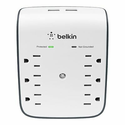 Belkin SurgePlus 6-Outlet Wall Mount Surge Protector with Du